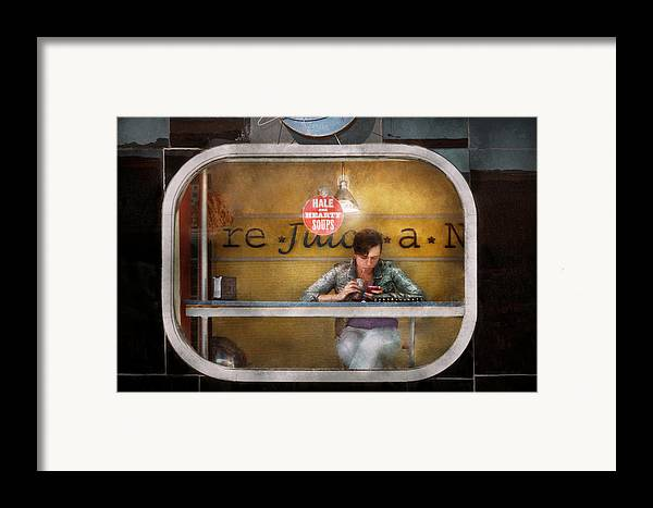 Savad Framed Print featuring the photograph Window - Hoboken Nj - Hale And Hearty Soups by Mike Savad