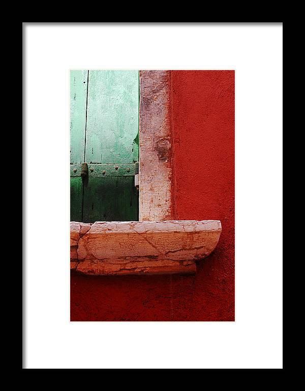 Venice Window Framed Print featuring the photograph Window Ledge by Jillian Barrile