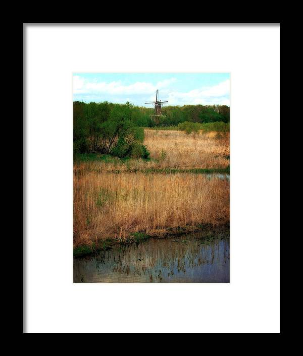 Windmill Island Framed Print featuring the photograph Window On The Waterfront Dezwaan Windmill by Michelle Calkins