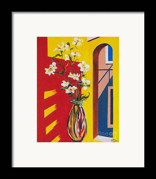 Still Life Framed Print featuring the painting Window by Sinisa Saratlic