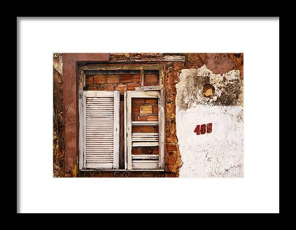 Window Framed Print featuring the photograph Windows Of Alcantara Brazil 1 by Bob Christopher