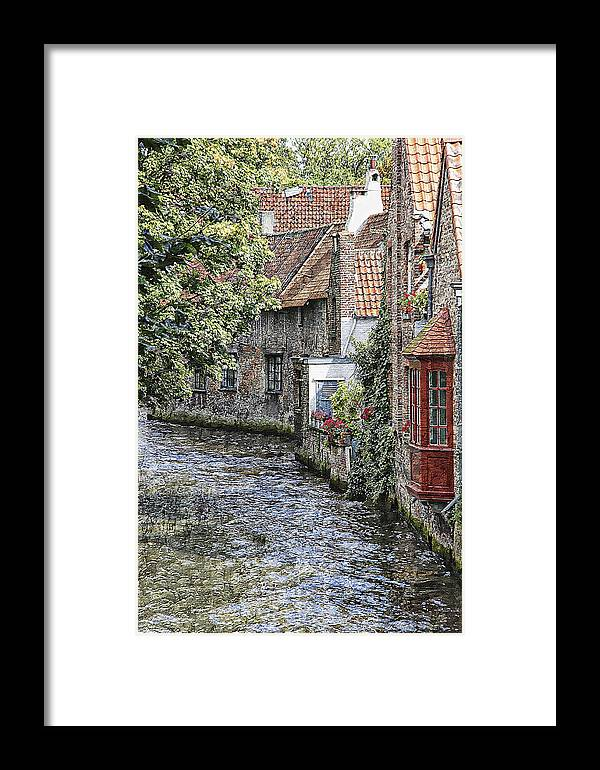 Landscape Framed Print featuring the photograph Windows On The Water by Robert Seidman
