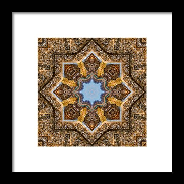Mandala Framed Print featuring the photograph Windows To Autumn Mandala 3 by Beth Sawickie