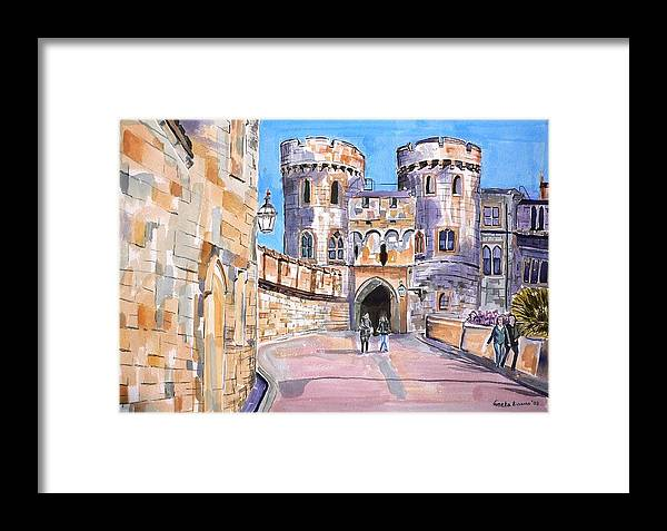 Windsor Castle Framed Print featuring the painting Windsor Castle by Geeta Biswas