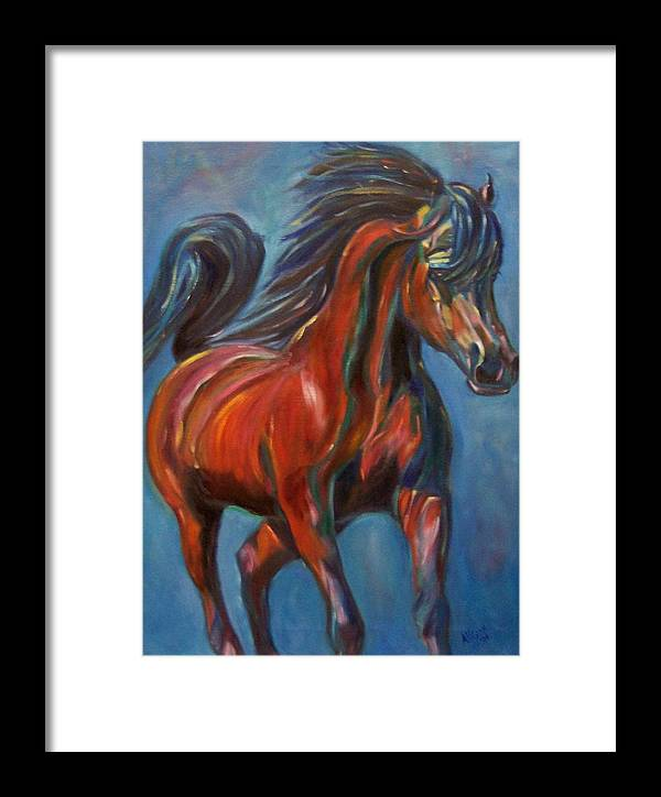 Horse Framed Print featuring the painting Windstalker by Stephanie Allison