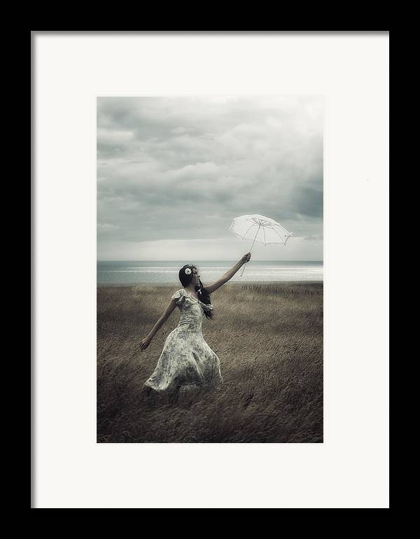Girl Framed Print featuring the photograph Windy by Joana Kruse