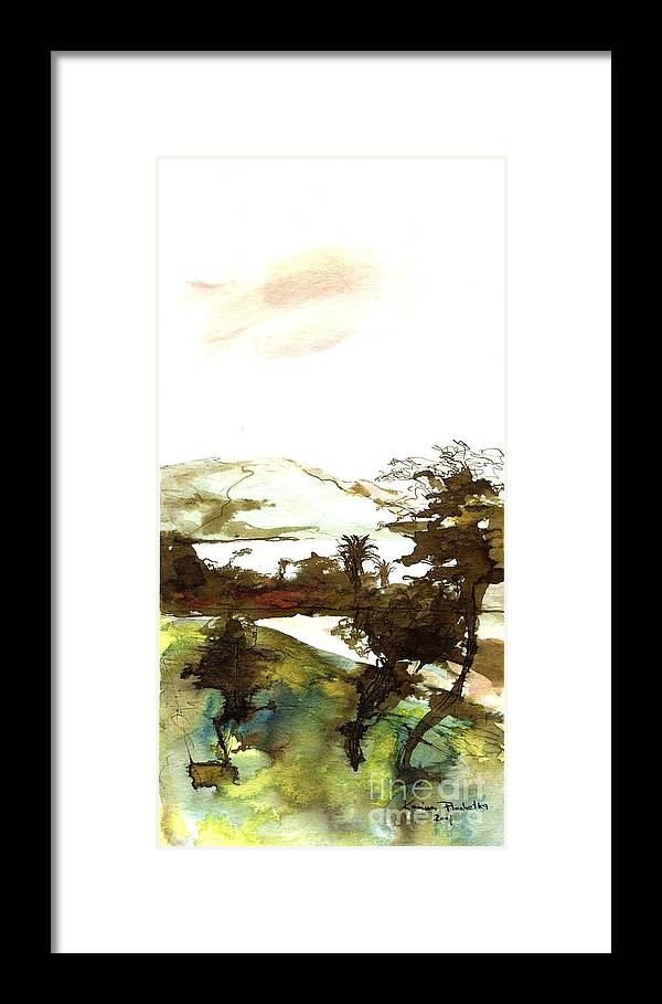 Tree Framed Print featuring the painting Windy by Karina Plachetka