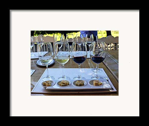 Wine Framed Print featuring the photograph Wine And Cheese Tasting by Kurt Van Wagner