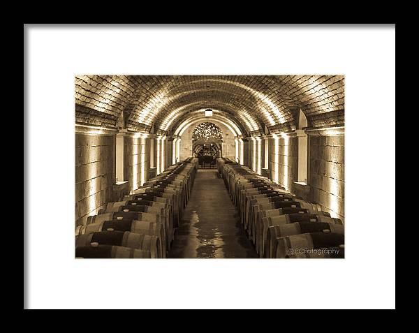 Napa Valley Framed Print featuring the photograph Wine Barrel Barrage by Preston Fiorletta