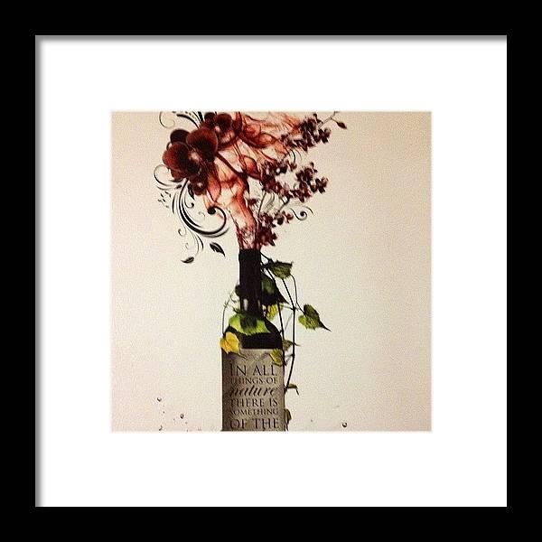 Wallart Framed Print featuring the photograph #wine #bottle #homedecor #wallart by Amber Campanaro
