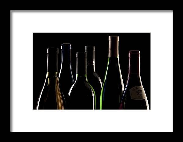 Wine Framed Print featuring the photograph Wine Bottles by Tom Mc Nemar