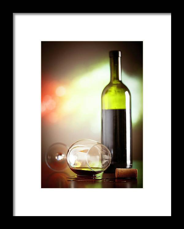 Alcohol Framed Print featuring the photograph Wine Concept by Grki