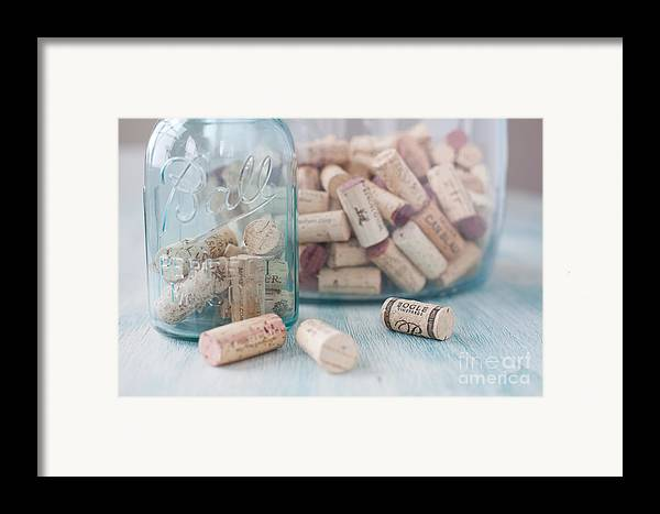 Wine Framed Print featuring the photograph Wine Cork Collection by Kay Pickens