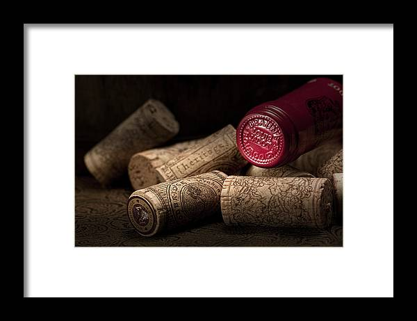 Wine Cork Framed Print featuring the photograph Wine Corks Still Life IV by Tom Mc Nemar