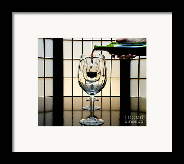 Banquet Framed Print featuring the photograph Wine For Three by John Debar
