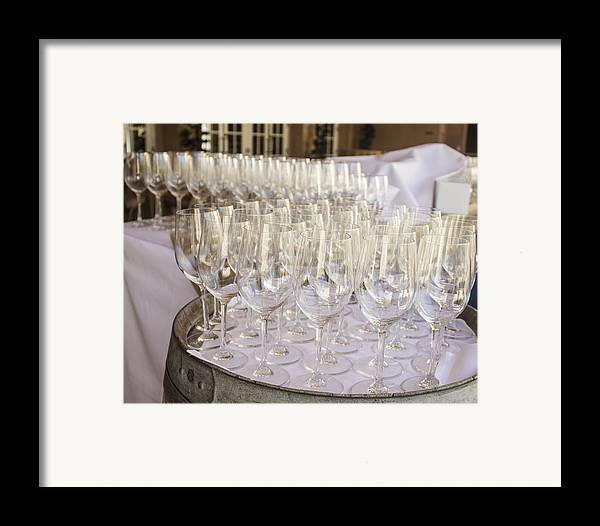 Wine Framed Print featuring the photograph Wine Glasses by Dee Savage