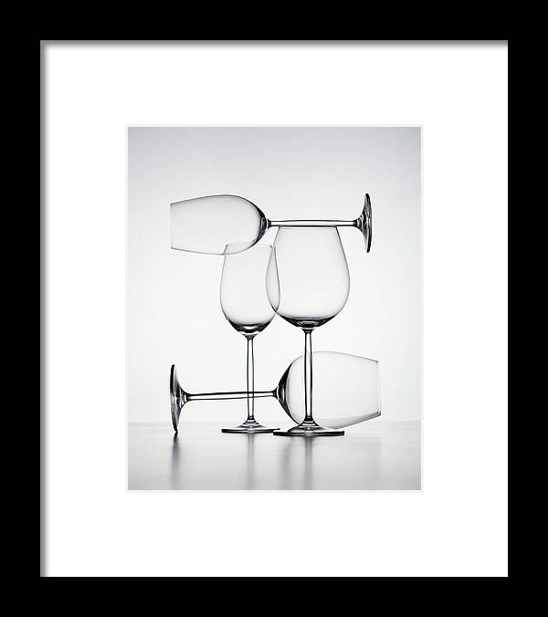 Empty Framed Print featuring the photograph Wine Glasses by Jorg Greuel