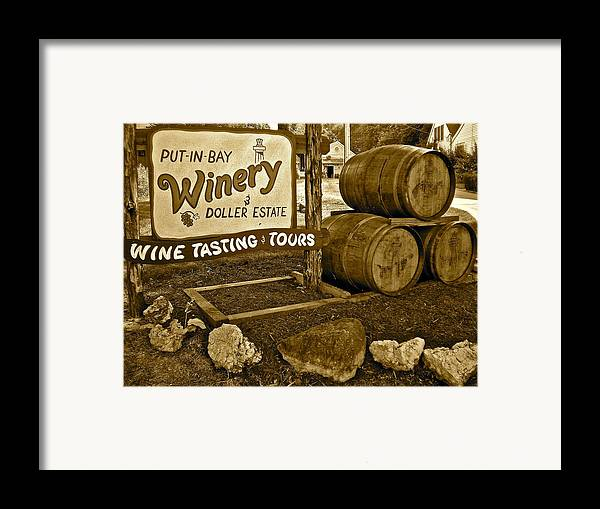 Wine Framed Print featuring the photograph Wine Is Fine by Frozen in Time Fine Art Photography