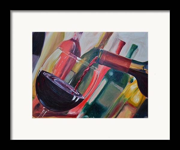 Wine Framed Print featuring the painting Wine Pour IIi by Donna Tuten