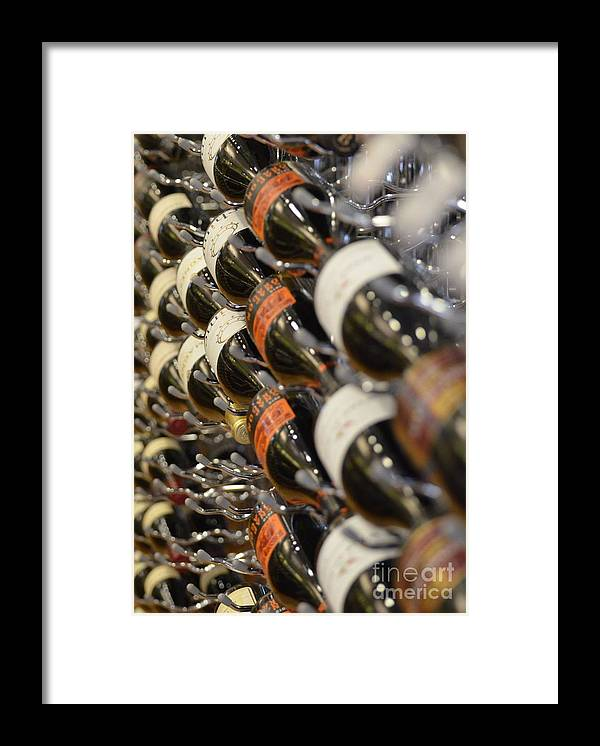 Wine Framed Print featuring the photograph Wine Wall by Paulina Roybal