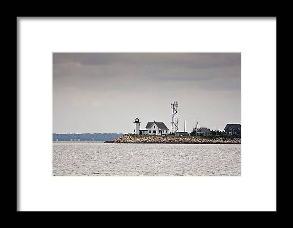 Wings Neck Framed Print featuring the photograph Wings Neck Light House by Dennis Coates