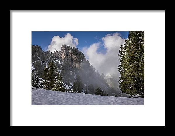 Alpine Framed Print featuring the photograph Penken Tyrol Alps Winter Landscape Photography by Alex Saunders