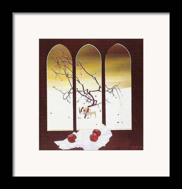 Still Life Framed Print featuring the painting Winter by Andrej Vystropov