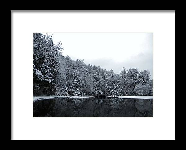 Winter Framed Print featuring the photograph Winter At Clear Creek by Anthony Thomas
