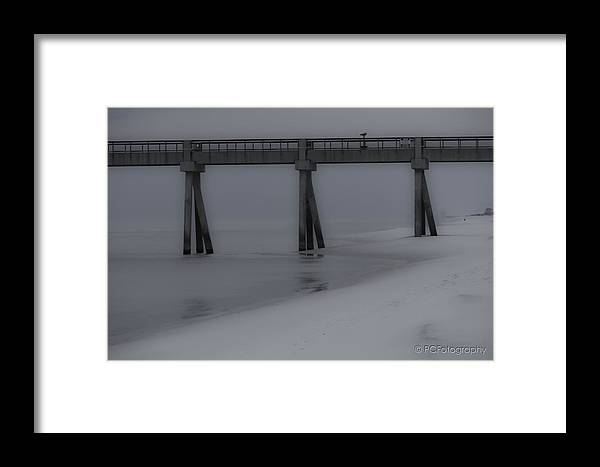 Navarre Pier Framed Print featuring the photograph Winter Beach by Preston Fiorletta