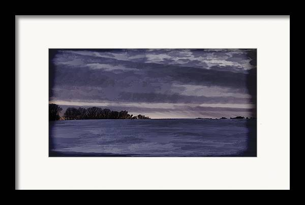 Winter Framed Print featuring the photograph Winter Blues by Thomas Young