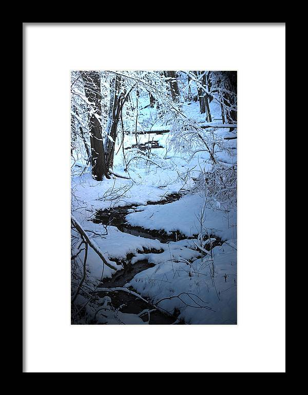 Brook Framed Print featuring the photograph Winter Brook by Roger Bruneau