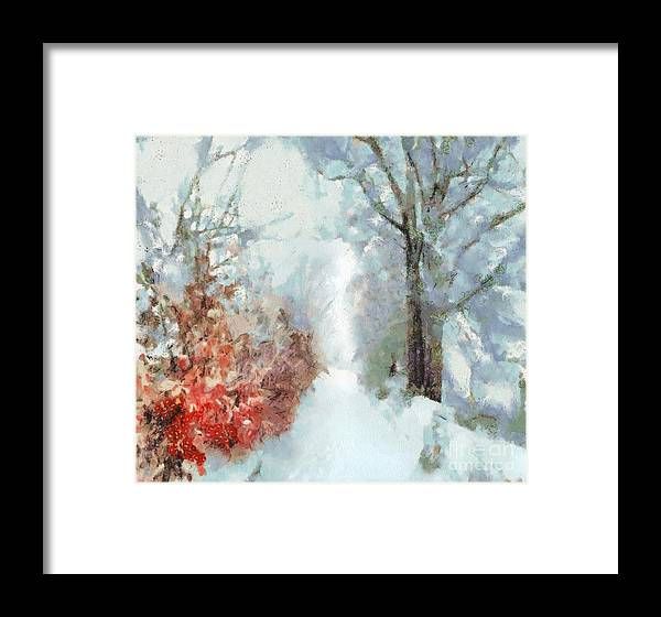 Winter Framed Print featuring the painting Winter by Catherine Lott