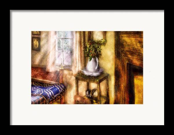 Savad Framed Print featuring the digital art Winter - Christmas - Early Christmas Morning by Mike Savad
