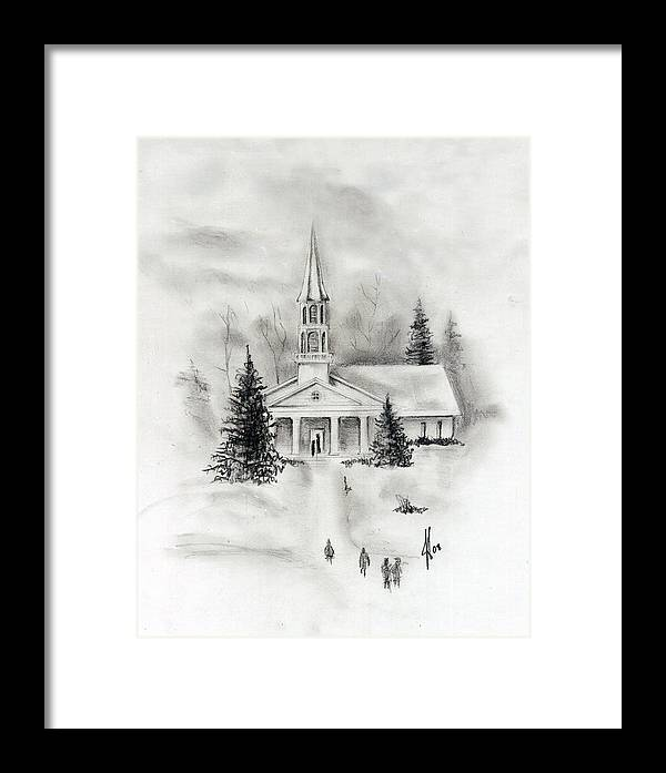 Country Framed Print featuring the photograph Winter Church by Jacob Cane
