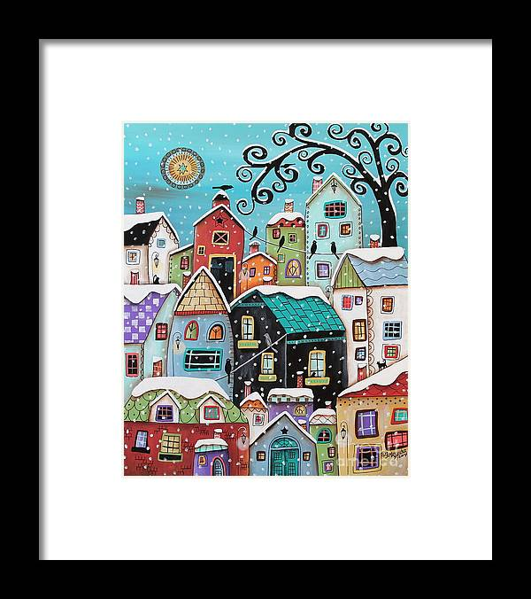 Winter Framed Print featuring the painting Winter City by Karla Gerard
