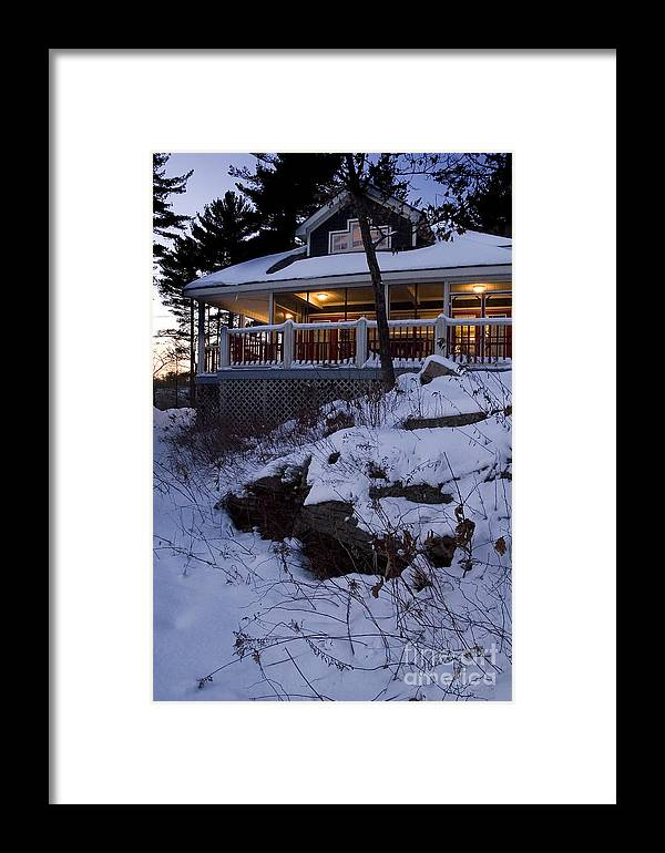 Canada Framed Print featuring the photograph Winter Cottage by Jessie Parker