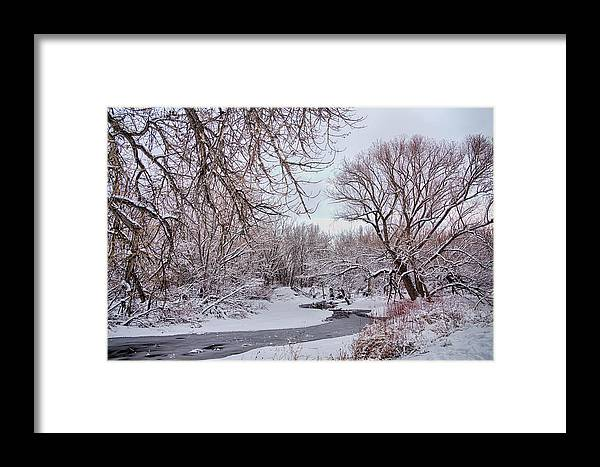 Winter Framed Print featuring the photograph Winter Creek by James BO Insogna