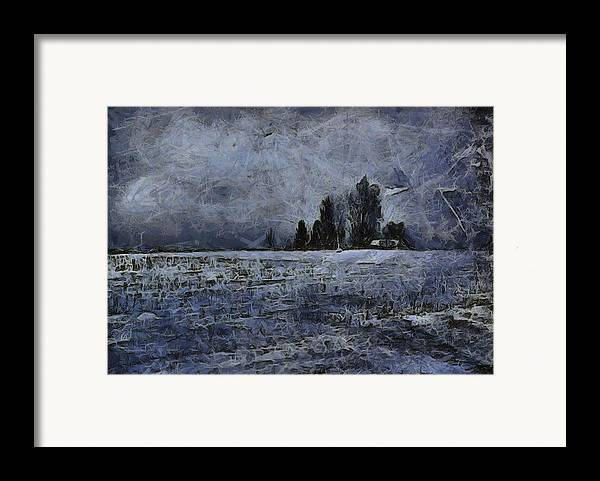 Winter Day Framed Print featuring the painting Winter Day by Dan Sproul