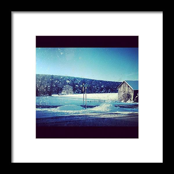 Upstate Framed Print featuring the photograph Winter days by Mike Maher