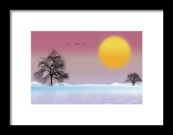 Winter Framed Print featuring the photograph Winter Evening by Cathy Kovarik