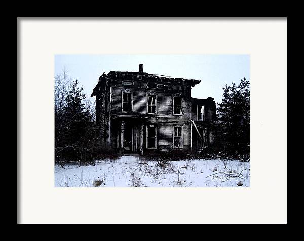 Haunted House Framed Print featuring the photograph Winter Home by Tom Straub