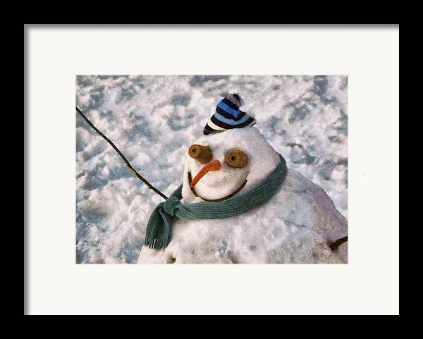 Savad Framed Print featuring the photograph Winter - I'm Ready For My Closeup by Mike Savad