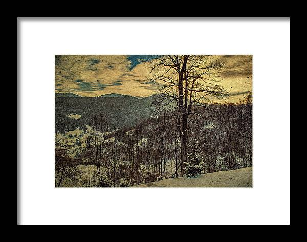 Framed Print featuring the photograph Winter In Mountains by Milan Cernak