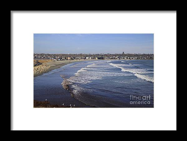 Winter In Newport Framed Print featuring the photograph Winter In Newport by Michael Mooney