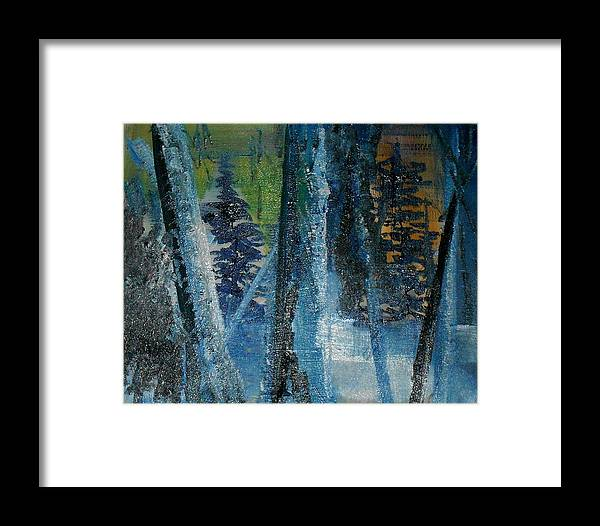 Framed Print featuring the painting Winter In The Forest by Gregory Dallum