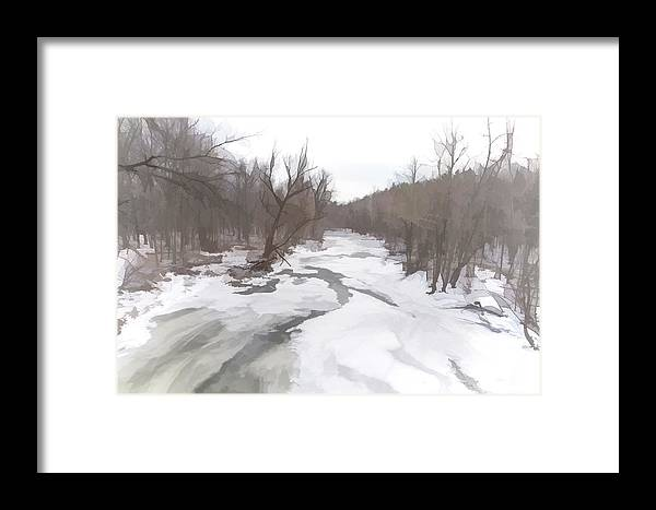 Snow Framed Print featuring the photograph Winter In The Woods by Ray Summers Photography