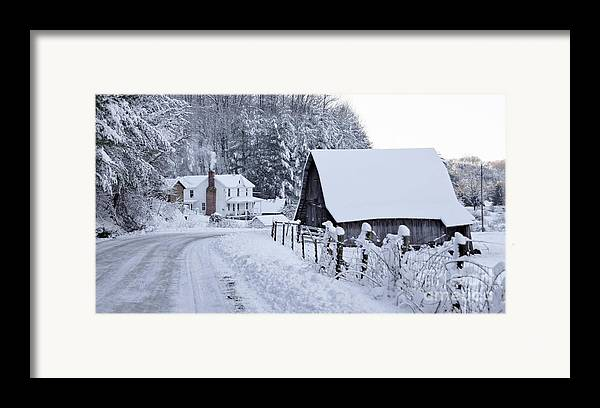 Virginia Framed Print featuring the photograph Winter In Virginia by Benanne Stiens