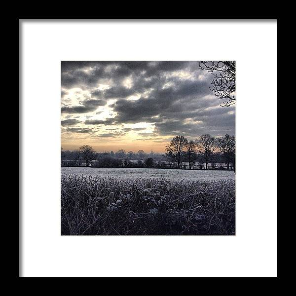 Landscape Framed Print featuring the photograph Winter Morning In Kent by Nic Squirrell