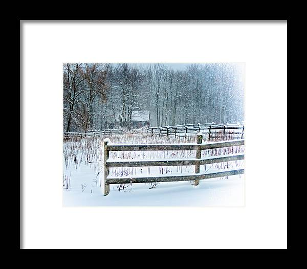 Winter Framed Print featuring the photograph Winter Pasture by Ken Marsh