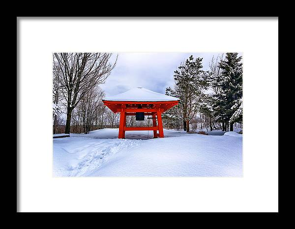 Winter Framed Print featuring the photograph Winter Peace Bell by Bryan Benson